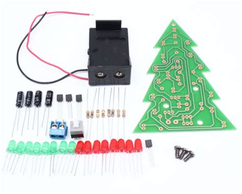 new diy kit christmas tree led flashing light red green