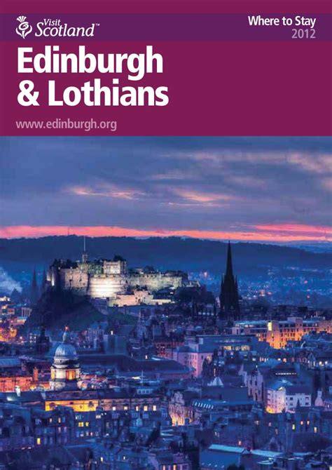 Welcome To Edinburgh I On Readers by Edinburgh And The Lothians Accommodation Guide By Plan B