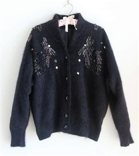 black angora cardigan aztec sweater dress