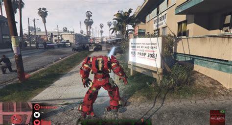 gta 5 ironman mod game free download iron man mod v1 2 1 mini hulk buster gta 5 mods scripts