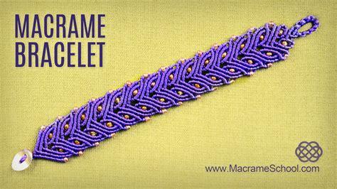 Macrame School - laurel leaf or cat eye bracelet demo macrame school