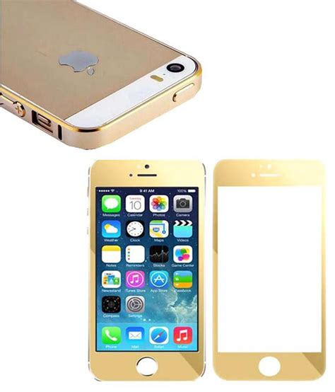 Tempered Glass Gold Iphone 4 clickaway gold tempered glass front and back and gold