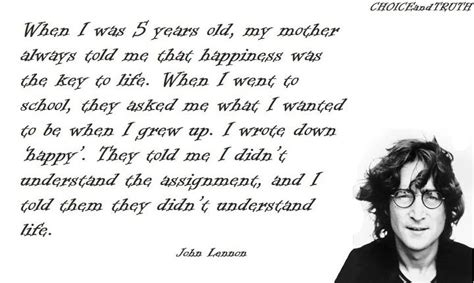 quote by john lennon when i was 5 years old my mother 301 moved permanently