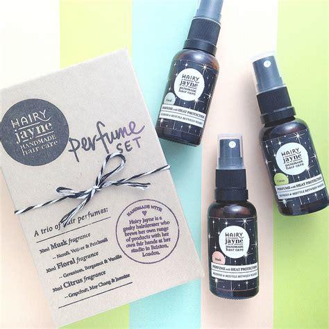 Handmade Hair Products - three hair perfumes set by jayne handmade hair care