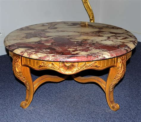 pretty coffee table louis xv style gilded wood and