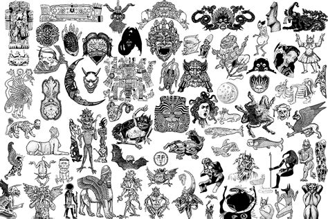24x36 monster tattoo designs by colinmartinpwherman on