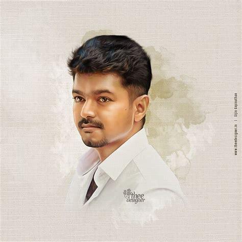 Thalapathy Vijay Thalapathy Vijay 600 Digital Painting More