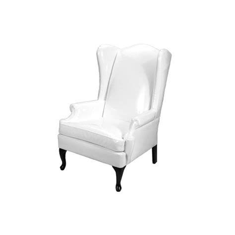 white wingback wingback chair rentals event furniture rental