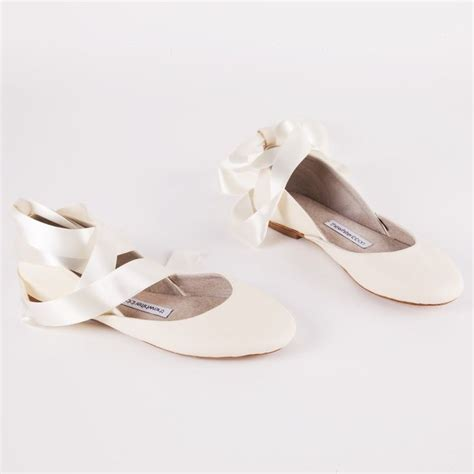 Flat White Wedding Shoes For Bride