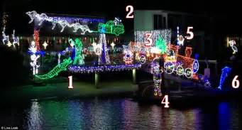 australian christmas lights include a sleigh being pulled