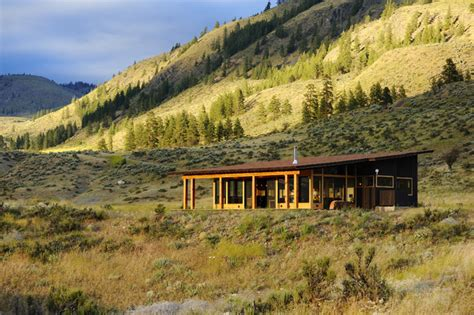 modern cabin rustic exterior seattle by johnston architects south range cabin rustic exterior seattle by