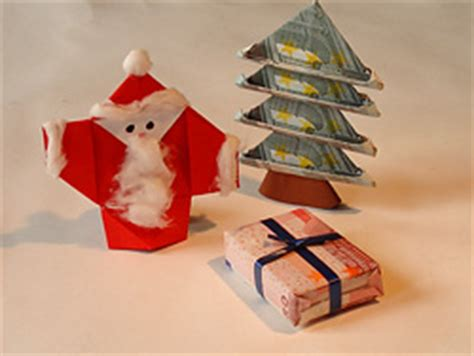 geldscheine falten weihnachten