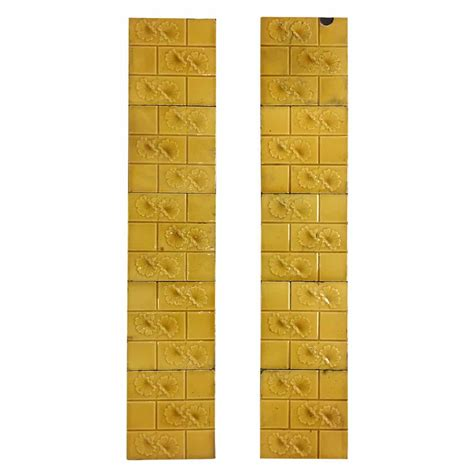 yellow fireplace yellow floral fireplace tiles buy from