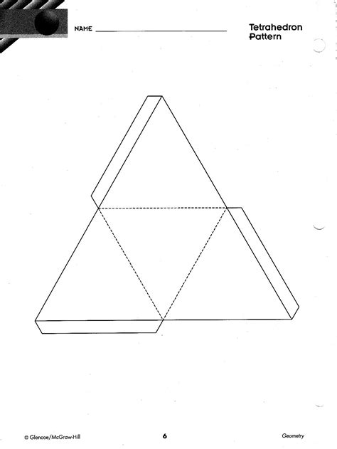 How To Make A Tetrahedron Out Of Paper - image gallery tetrahedron pattern