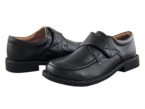 dress shoes black boys black dress shoes with velcro
