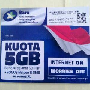 Kartu Perdana Xl 5 Gb For 3g kartu perdana xl kuota 5 gb 24 jam elevenia