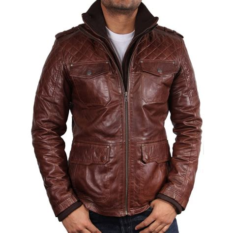 brown leather jacket s brown leather biker jacket brandon