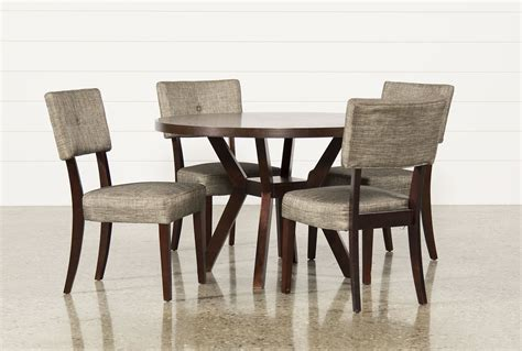 round dining sets macie 5 piece round dining set living spaces