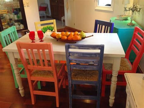 vintouch muebles reciclados pintados  mano mesa