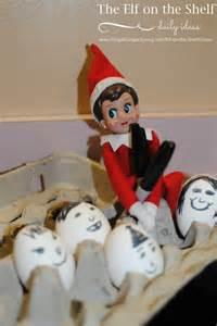 on the shelf ideas decorates the eggs