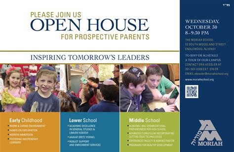 open house ad open house for prospective parents