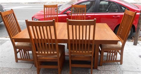 uhuru furniture collectibles mission style dining table