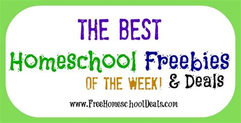 Deal Of The Week 15 At Natur by The Best Homeschool Freebies And Deals Of The Week 12 15
