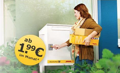 Dhl Paketkasten Mit 5 Gutschein Pakete Empfangen Und
