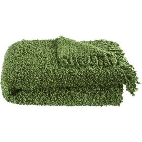 Green Blankets And Throws by Crate Barrel Soft Throw Blanket Fringed Throw