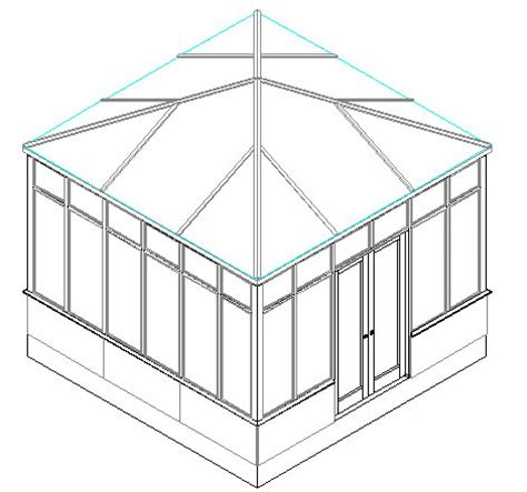 Pyramid Shaped Roof Plan 12x12 Garden