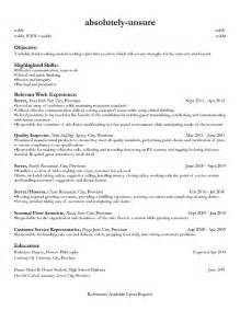 doc 887722 part time resume exles bizdoska