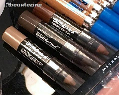 Pomade Crayon Maybelline sneak peek new maybelline brow drama pomade crayons