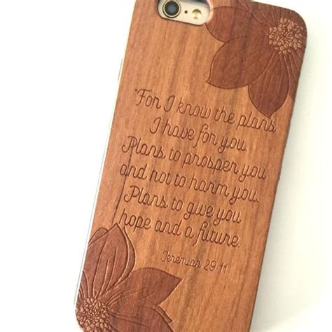 jeremiah  scripture wood phone cover prone  wander