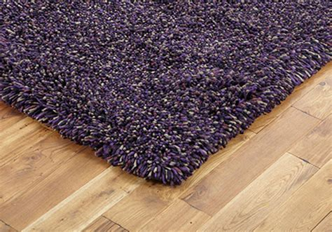 Modern Rugs For Sale Small Medium 7cm Thick Pile Wool Modern Shaggy Lilac Discount Rugs For Sale