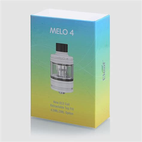 Eleaf Ello 25 Atomizer Sub Ohm Tank 4 0ml Authentic authentic eleaf melo 4 black 4 5ml 25mm sub ohm tank atomizer