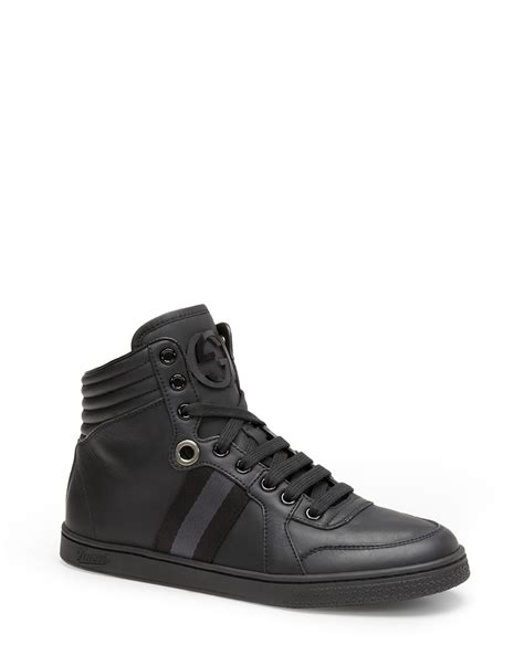 gucci high top sneakers for gucci high top sneakers in black lyst