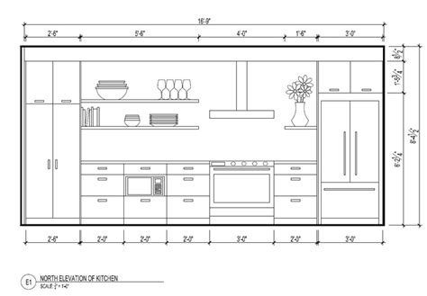 simple kitchen elevation design free simple kitchen north elevation 3d plans section elevation pinterest