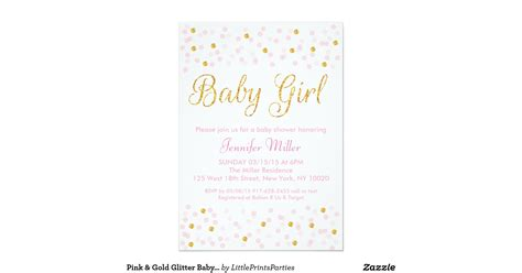 pink and gold baby shower invitation pink gold glitter baby shower invitations