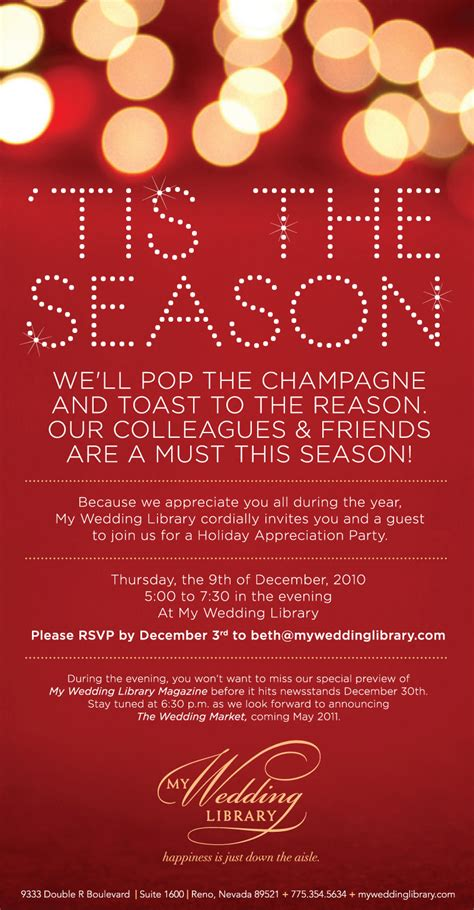 Holiday Party Email Invitation Template Arts Arts