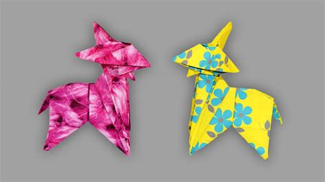 How To Make A Paper Goat - origami ziege goat faltanleitung live erkl 228 rt my