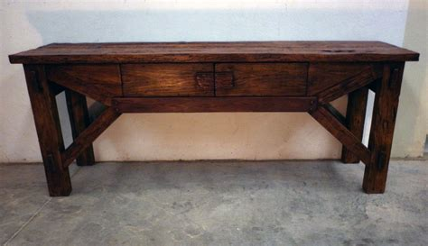 Rustic Console Table Foreign Accents Rustic Console Table
