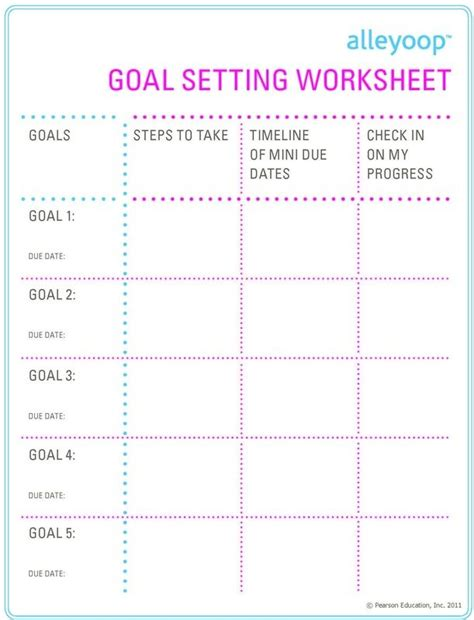 Goal Setting For College Students Worksheet by 113 Best Images About Work School On