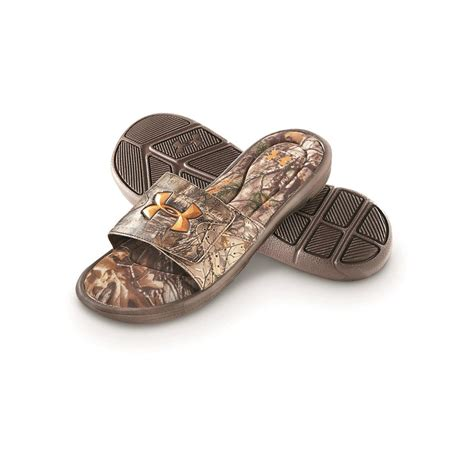 mens camo sandals armour s ignite camo iv slide sandals realtree
