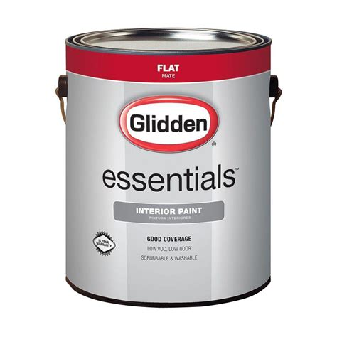 glidden paint glidden essentials 1 gal base 1 flat interior paint gle 1011 01 the home depot