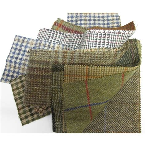 Tweed Patchwork - tweed patchwork patches 10 squares per bundle 23cm x 23cm