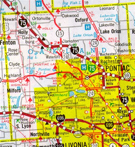 Oakland County Probate Search Map Of Oakland County Michigan Michigan Map