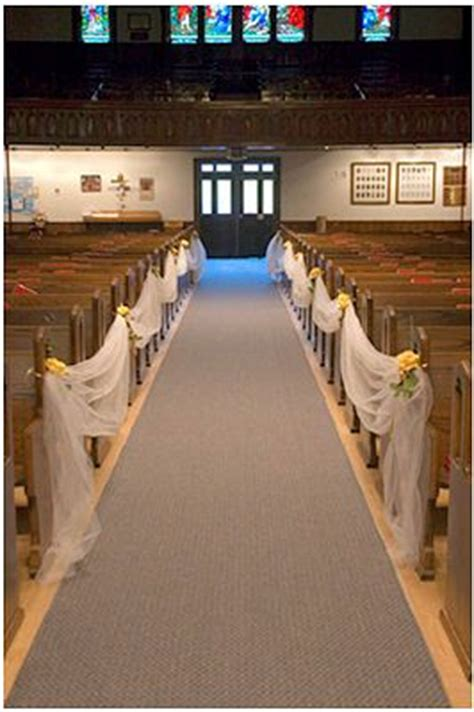 wedding aisle draping pew markers markers and tulle on pinterest
