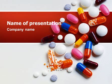 Pills And Tablets Powerpoint Template Backgrounds 02467 Antibiotics Ppt Templates Free