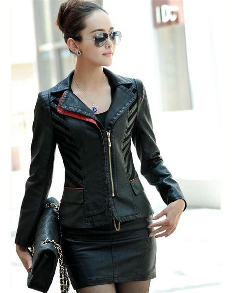 chaqueta de cuero para mujer chaquetas para mujer cuero