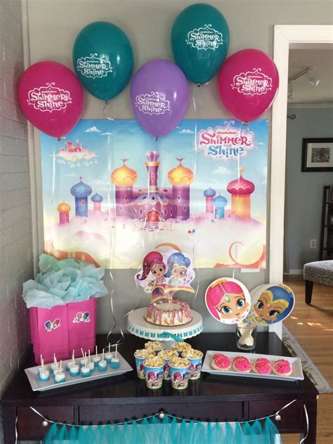 themed birthday party kits 90 best shimmer and shine birthday party ideas and themed